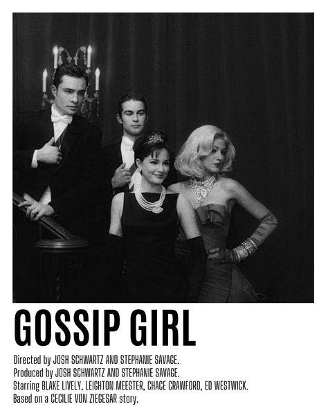 Gossip Girl Minimal Polaroid Frame Poster