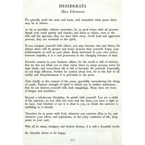 Desiderata - Poetry Collection - Sugarboo and Co - White - Gallery Wrap