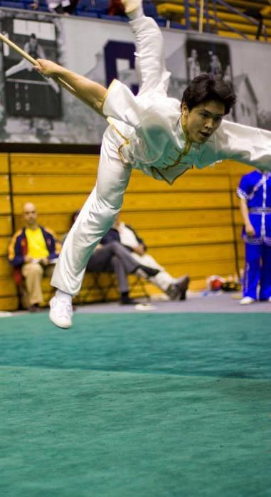 A wushu athlete now actor Kenny Leu