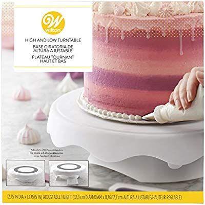 Amazon Com Wilton High And Low Cake Turntable Cake Decorating Stand Cake Stands Cake Decorating Stand Cake Decorating Tools Turntable Cake
