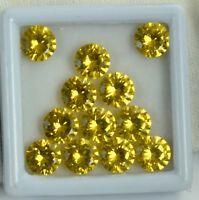 Natural Round Cut 20 Ct//5 Pcs Ceylon Orange Sapphire Gemstone Lot AGSL Certified