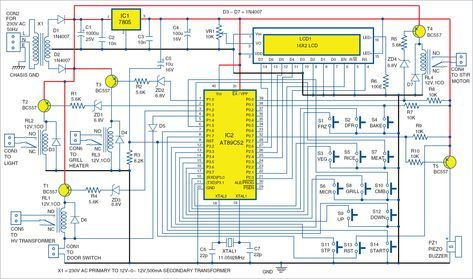 Microwave Oven Control Board Full Electronics Project Microwave Oven Circuit Diagram Microwave