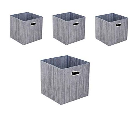 Hepna 4 Pack Storage Bins Waterproof Fabric Foldable Cubes With