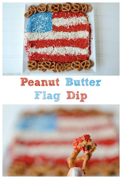 Peanut Butter Flag Dip - the best dessert ever!