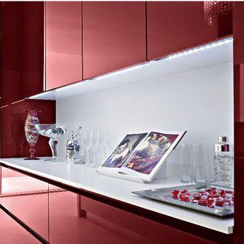 Hafele Luminoso 12v Led Oslo Under Cabinet Strip Light With Illuminated Handle Kitchensource Pinterest Under Cabinet Lighting Cabinet Lighting Strip Lighting