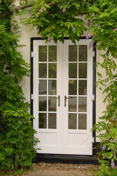 Glazed hardwood French doors   For looks (company is in UK ...