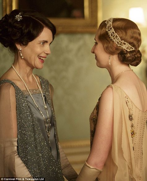 Not so pleased: Elizabeth McGovern says Julian Fellowes isn't 'interested' in exploring th...