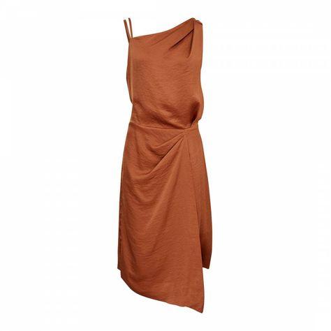 Reiss Nutmeg Ostia Drape Dress   Draped dress, One shoulder