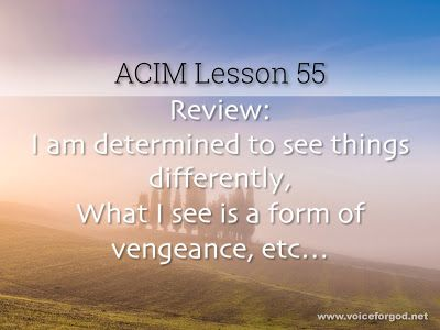 Miracle Life Acim Workbook Lesson 55 Workbook Course In