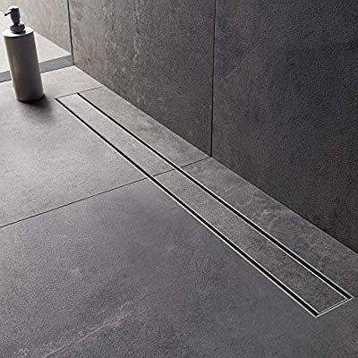 Modbath 36 Inch Linear Shower Drain With 2 In 1 Flat Cover And