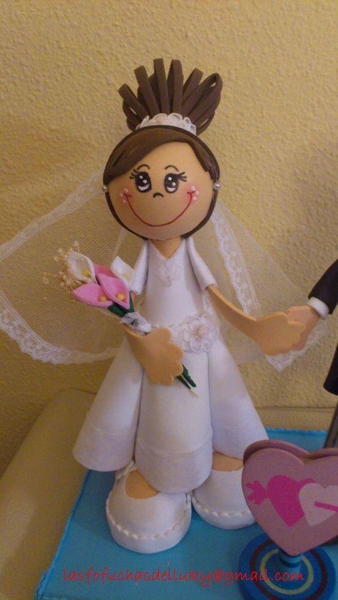 Fofucha novia mini/Bride fofucha doll small