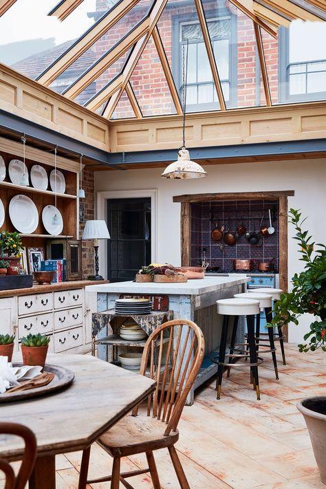 Home Interior Design .Home Interior Design Dream Home Design, My Dream Home, Ideas Cabaña, Decor Ideas, Conservatory Design, Conservatory Kitchen, Design Case, Interior Design Kitchen, Italian Interior Design