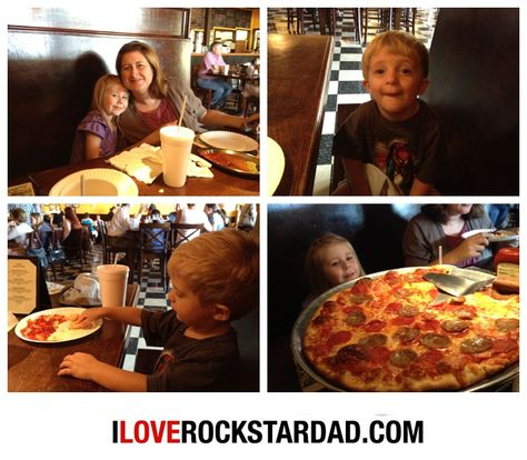 The family at Tonella's Pizza Kitchen. Best pizza in town. www.iloverockstardad.com