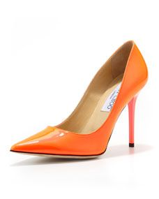 Jimmy Choo Abel Patent Pointy Pump, Red | Pointy pumps