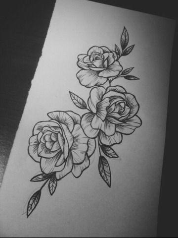 Ejemplos De Disenos Y Bocetos De Rosas Para Tatuar Tatuajes En La Cadera Tatuajes De Moda Brazos Tatuados