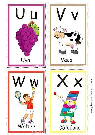 Cartas Letras Do Alfabeto Para Jogo Pedagogico Em 2020 Com