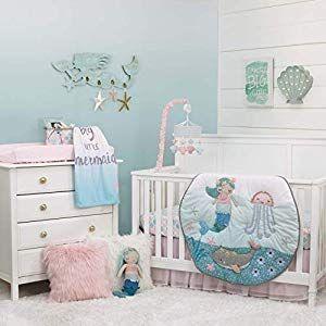 Nautical Crib Bedding Beach Crib Bedding Sets Beachfront Decor Mermaid Crib Bedding Girl Nursery Themes Baby Room Decor