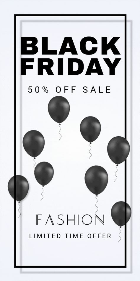 Fashion Black Friday Banner Template for E-commerce - Boost your sales with a cool design.