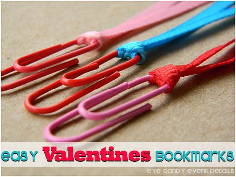 Eye Candy Event Details: {CRAFTY TIP TUESDAY} Easy Valentines bookmarks  #valentines, #kidscraft, #valentinescraft