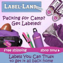 Label-Land Giveaway: Camp/School Pack   OrganizingMadeFun.com