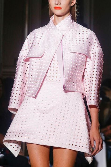 John Galliano...love this color pink with the orange lip
