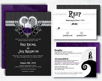 The nightmare before christmas wedding invitations