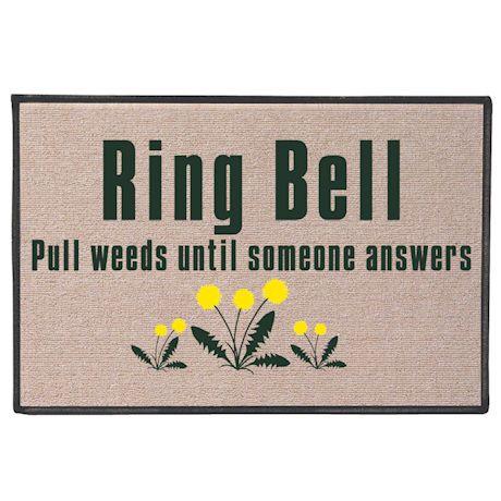 Ring Bell Pull Weeds Doormat Door Mat Ring Bell Olefin