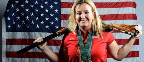 Kim Rhode of the US Shooting Olympic team poses for pictures.Team USA Shooters Say Big Name Companies Won't Sponsor Them. Here are the Sponsors They DO Have.There's also a question of whether or not shooting would attract the same viewership as gymnastics and swimming, which are arguably more popular among Olympics watchers.with 41% of Americans having one or more guns inside their homes, according to recent Gallup survey, shooting events could do well in prime-time if given the chance