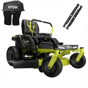 Ryobi 38 In 100 Ah Battery Electric Rear Engine Riding Lawn Mower Ry48111 The Home Depot In 2020 Riding Lawn Mowers Zero Turn Mowers Electric Riding Lawn Mower