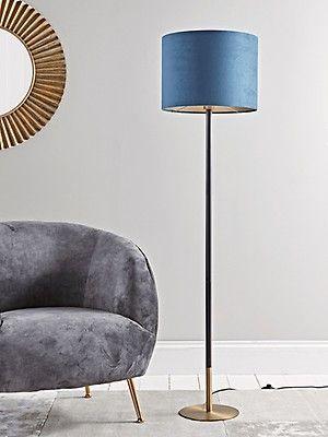 Grey Black Floor Lamp Slim