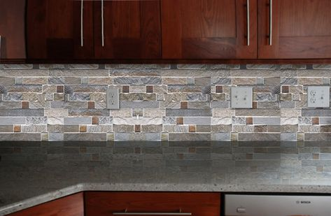 Fire And Ice Brick Tile Backsplash Brick Tile Backsplash Brick