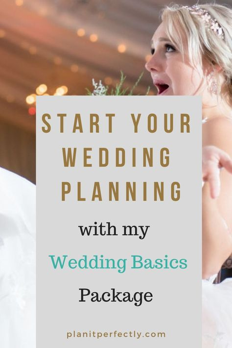 It's perfectly normal to be all over the map with your emotions as you plan your wedding. That's why my Wedding Basics package is geared exactly for you. Click to find out more. #weddingplanning #weddingplans #weddingday #weddings #weddinginpsiration