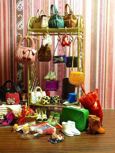 My (mini) shoes & bags collection, via Flickr.
