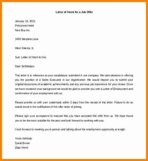 40 Construction Letter Of Intent Template In 2020 Letter Of