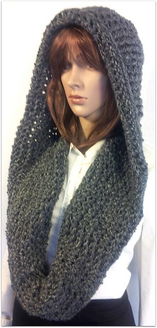 Serenity Hooded Scarf pattern by Tina Lynn Creations | Hooded scarf ...
