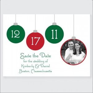 You Wedding Day With These Christmas Themed Save The Date Cards ...