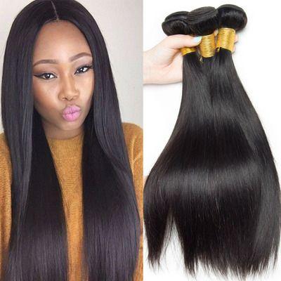 Straight Brazilian Hair In 2020 Brazilian Straight Hair Weave Straight Hairstyles Straight Weave Hairstyles