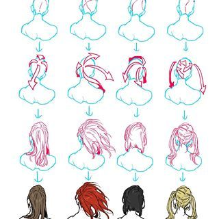 How To Draw Hair From A Back View Credit To Bosaboy07 From Deviantart This Account Is Just An Alter How To Draw Hair Drawing Tutorial How To Draw Braids