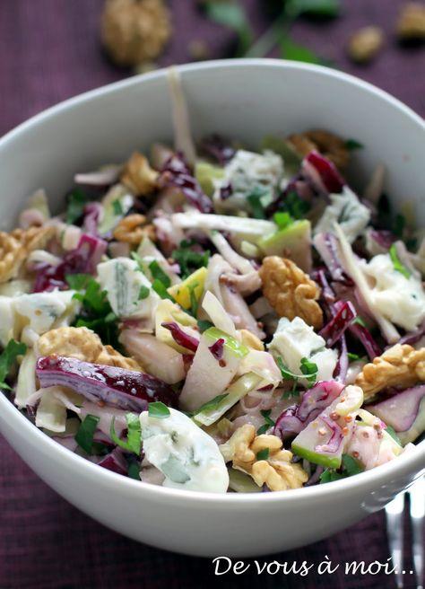 Salade de Chou Rouge, Fenouil, Pomme Verte et Gorgonzola