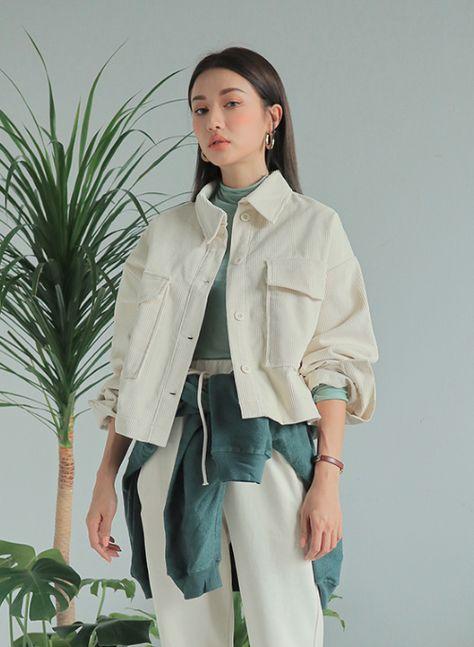 [Stylenanda] Large Flap Pocket Jacket