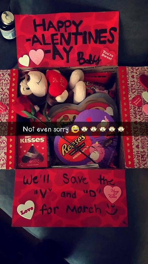 Valentine's Day military care package