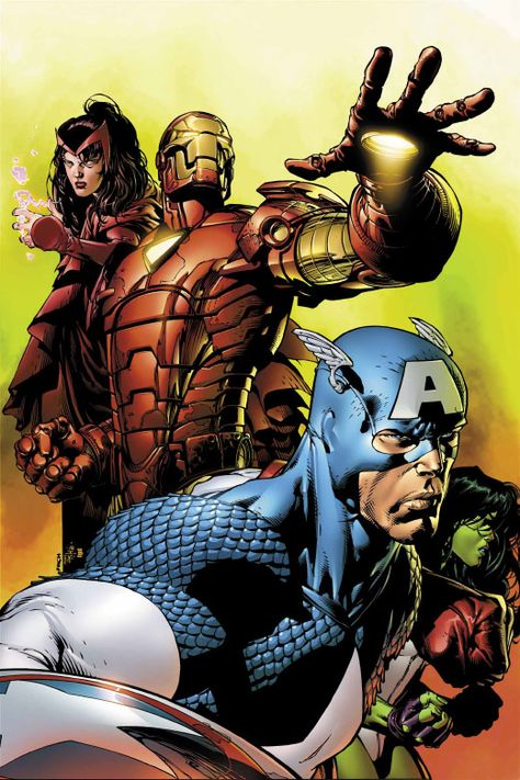 AVENGERS #501 Cover by David Finch