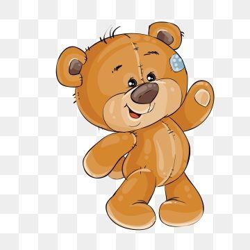 Elemento De Diseno Plantilla Vector Clip Art Arte Ilustracion Peluche Agitando Su Pataimprimir Imagenes Png Y Grafi Bear Art Cartoon Clip Art Bear Illustration
