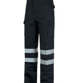 Pantalon Drill Con Cinta Reflectiva Y Bolsillos Ropa Uniformes Pantalones