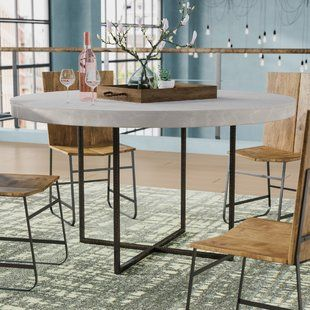 Square Kitchen Dining Tables You Ll Love Wayfair Dining Table In Kitchen Dining Table Concrete Dining Table