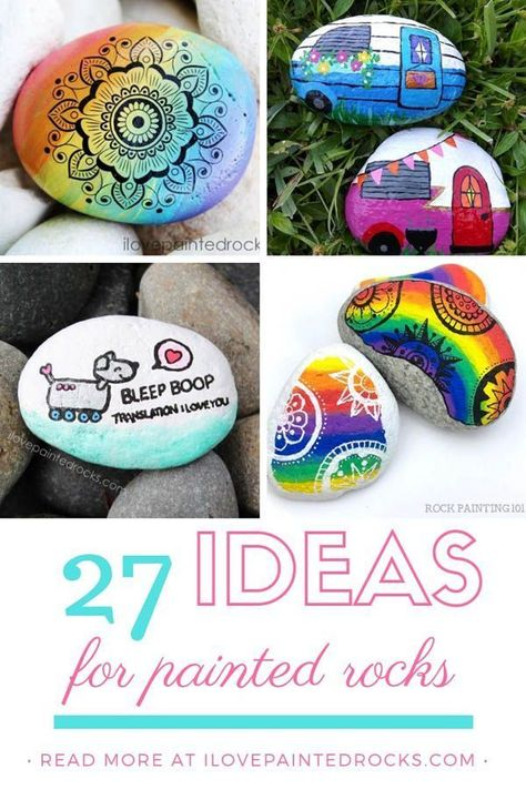 These are all such cool painted rocks! These rock painting ideas range from creative to simple but all of them are beautiful. Many of these rock painting designs have step by step tutorials to teach you and your kids how to make them but others are for sale on Etsy. #ilovepaintedrocks #rockpainting #paintedrocks #coolpaintedrocks #stonepainting #paintedstones