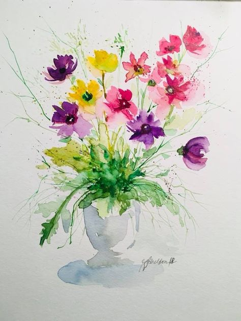 Epingle Par Stantau Sur Aquarelle Facile Aquarelle Facile
