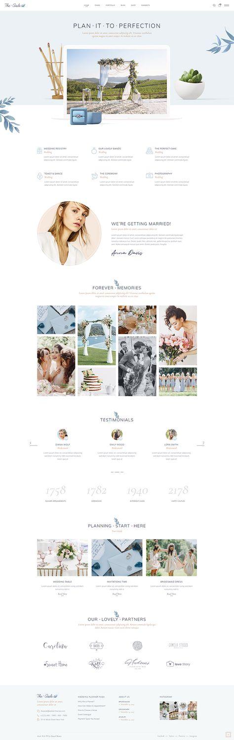 Create an amazing website for your wedding business with The Aisle WordPress theme!  #wordpress #webdesign #websitedesign #designinspiration #wedding #celebration #weddingplanner #weddingwebsite #weddinginspiration #weddingbusiness #weddingday #weddingphoto #feminine #elegant