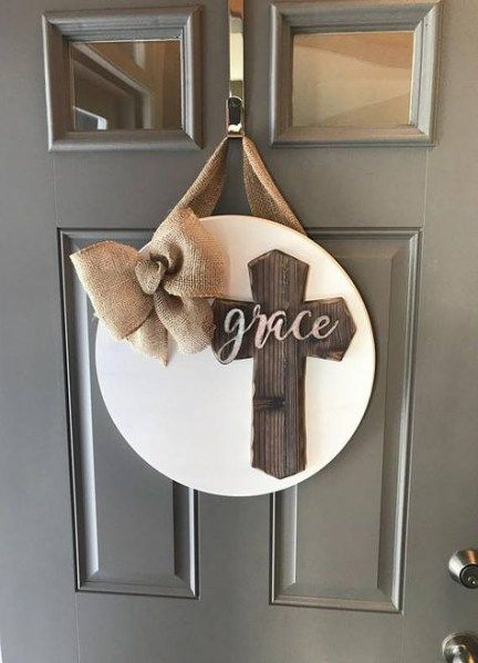Cross Door Hangers Blessed 68 Ideas Door Cross Door Hangers Door Wreath Hanger Front Door Decor
