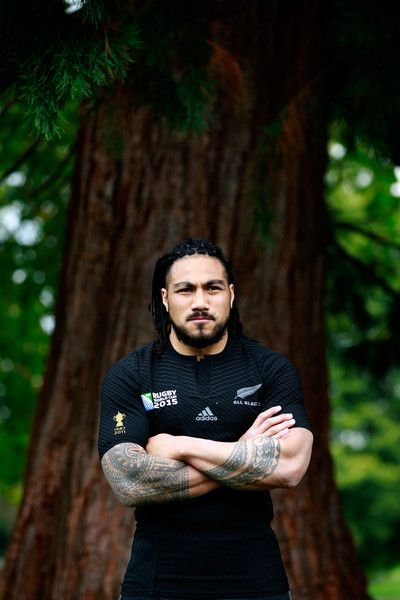 Ma'a Nonu Photos - Maa Nonu of the All Blacks poses for a portrait during a New Zealand All Blacks media session at the Lensbury on September 2015 in London, United Kingdom. - New Zealand All Blacks Media Session